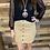 Thumbnail: Taupe corduroy button skirt