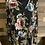 Thumbnail: Plus size black floral criss cross front