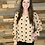 Thumbnail: Taupe blouse with black textured dots
