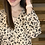 Thumbnail: Taupe/black floral blouse
