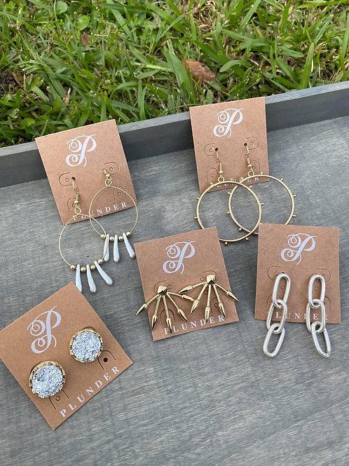 5 piece earring set