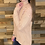 Thumbnail: Dusty pink lace shoulder sweater