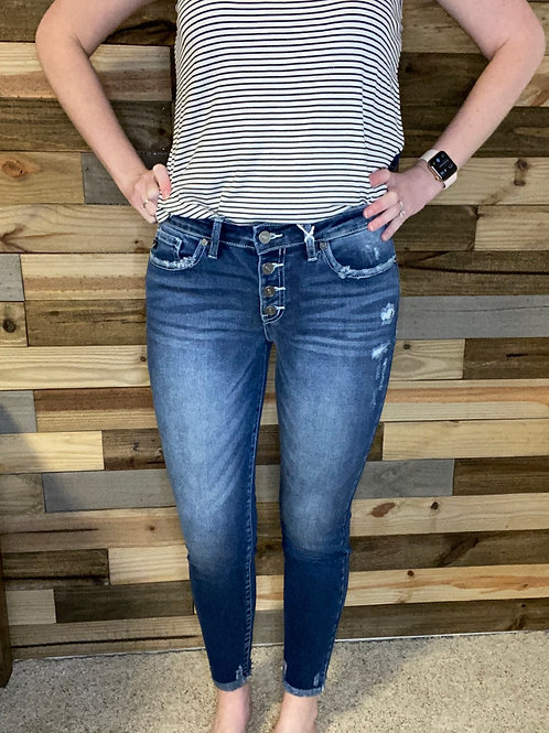KanCan button fly ankle jeans
