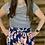 Thumbnail: Floral/striped short sleeve dress