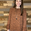 Thumbnail: Rust leopard bell sleeve blouse