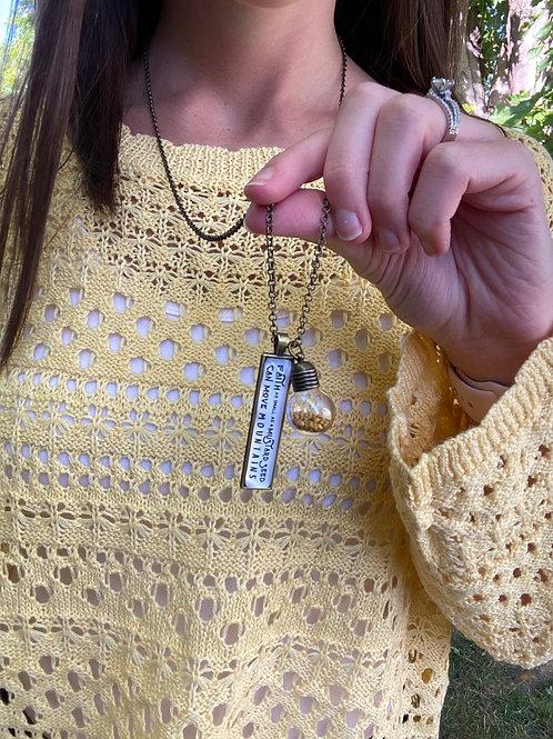 Faith mustard seed necklace