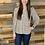 Thumbnail: Brown floral button up blouse