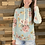 Thumbnail: Lightweight floral hooded top