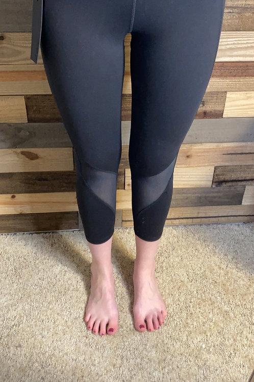Charcoal mesh leggings