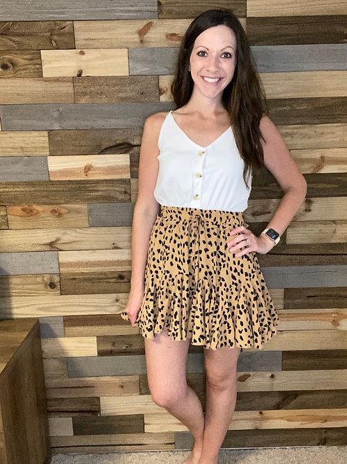 Cheetah bottom romper/dress