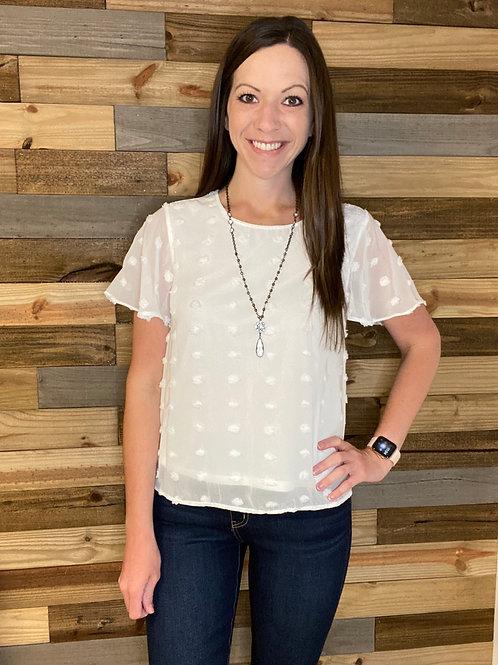 White dot blouse