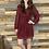 Thumbnail: Wine dotted ruffle dress