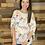Thumbnail: White floral cold shoulder blouse