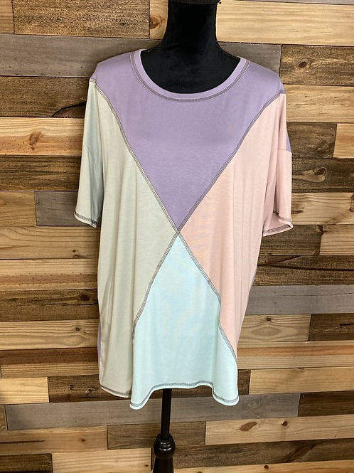 Plus size colorful tee