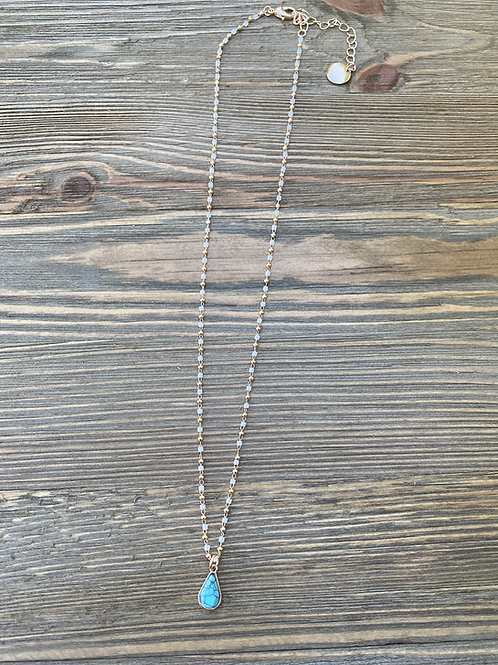 Turquoise marbled necklace