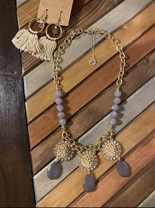 2 piece lavender necklace/earring set