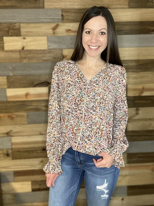 Spring floral blouse