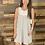 Thumbnail: Gray striped lace dress