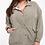 Thumbnail: Plus size olive bomber jacket