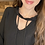 Thumbnail: Cut out neck hooded top