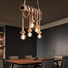 Hemp Rope Industrial Pendant Light