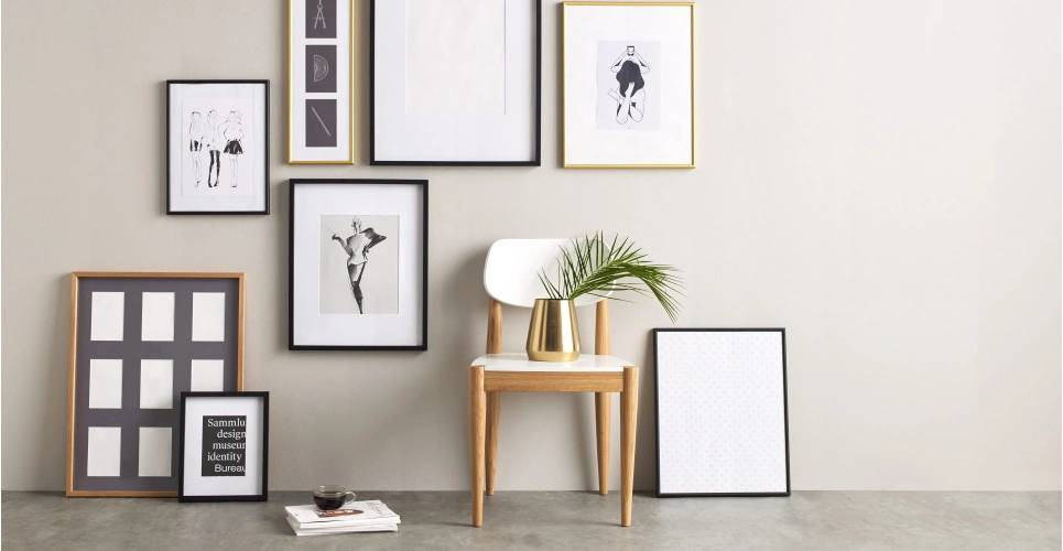 Portland Picture Frame. Picture wall ideas for living room. hanging pictures on walls ideas. photo wall design ideas. photo wall ideas with frames