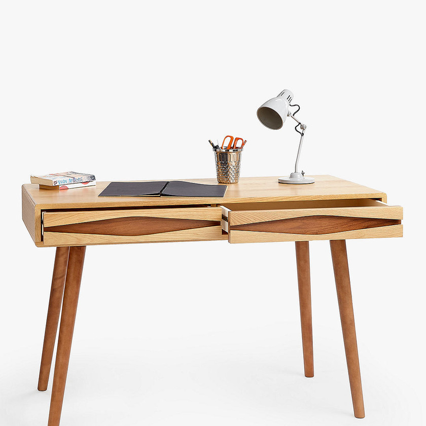 Frequency Desk, Natural. Home office desk. Office desk. Writing table