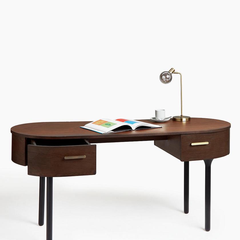 Yoko Desk, Dark Oak. Home office. Office desk. Office table. Reading table