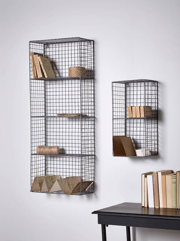 Wire wall rack. home office storage. home office