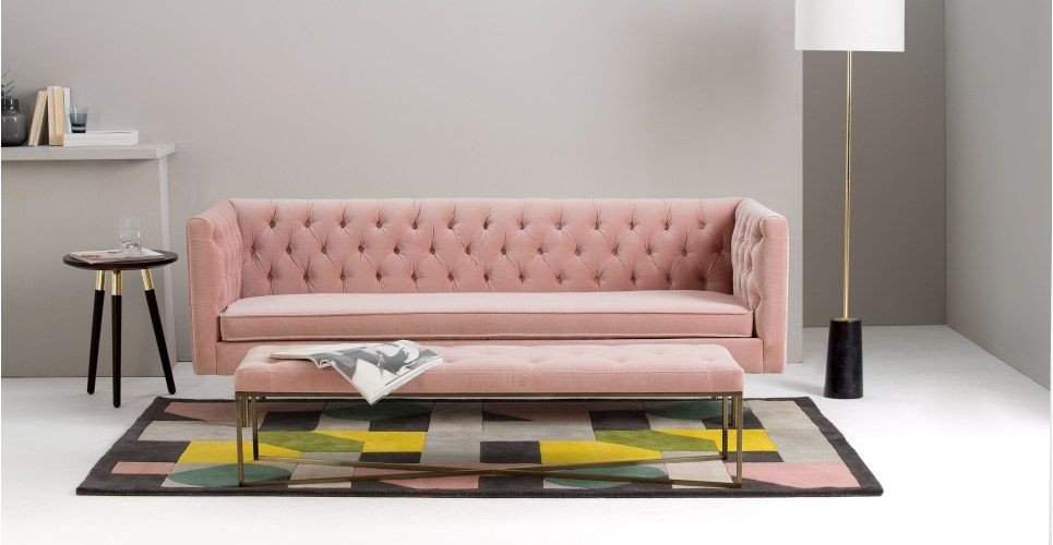 blush pink sofa. shades of pink. pink and grey living room ideas. 2018 interior design trends uk. pink wall combinations. pink interior design ideas. pink bedroom ideas. 2018 interior design trends. 2019 interior design trends. blush pink and grey living room. blush pink home decor. millennial pink. blush pink interior design inspiration