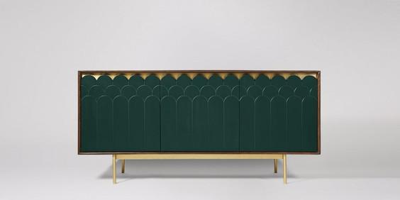 Connie Sideboard, Green. Interior design for hallways. Foyer decor ideas