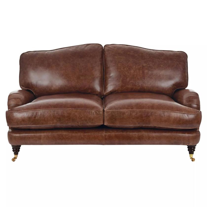 Laura Ashley Lynden Leather Sofa. Leather sofa. Durable sofa. Living room sofa