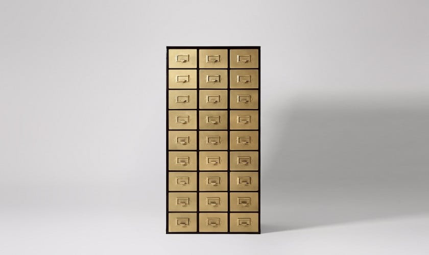 Latchman Chest Of Drawers, Iron & Brass