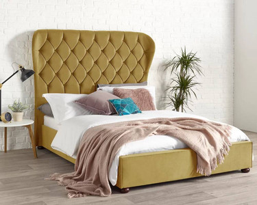 Lorradaile Wingback Upholstered Bed Frame