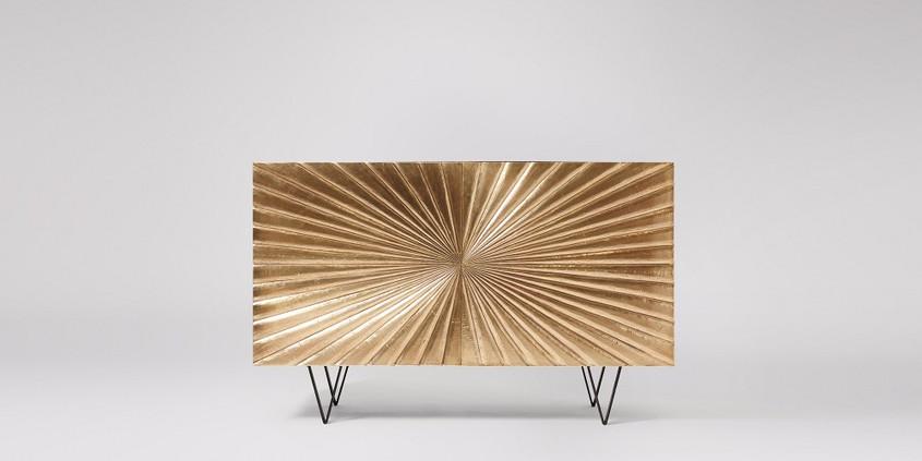 ziggy sideboard brass. hallway ideas. foyer decor.
