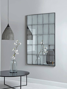 Aged Glass Panel Mirror