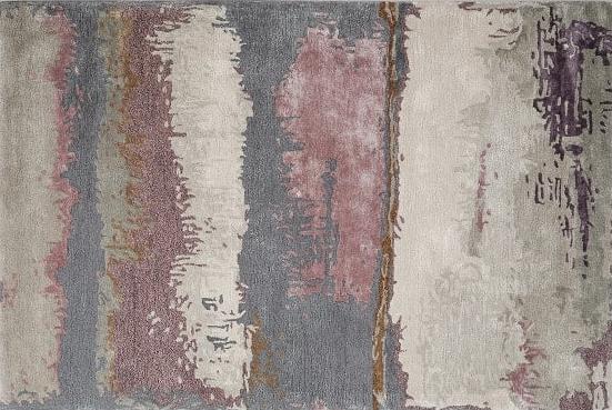 Nirvana Rug, Steel Grey & Mauve Pink