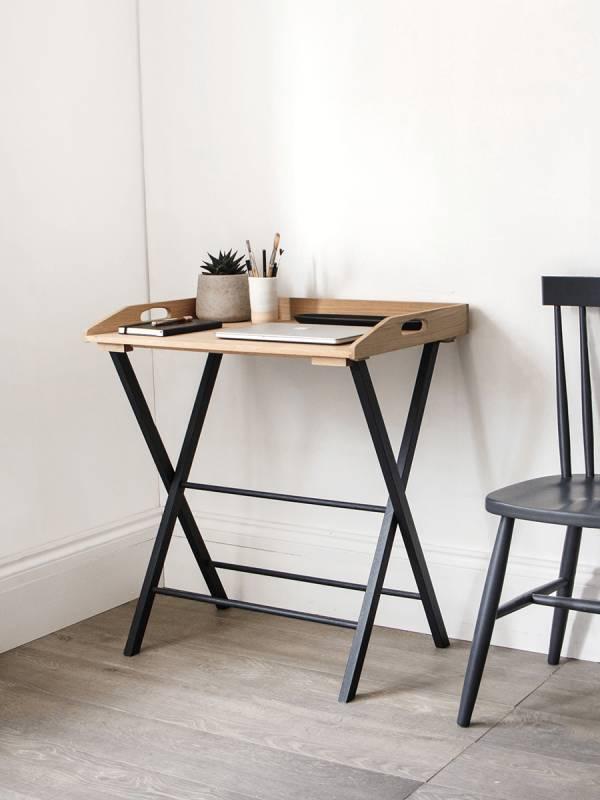 Oak desk tray. Office desk, home office