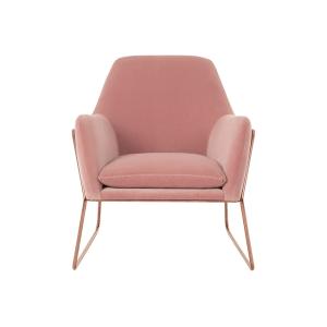 Frame Armchair in Blush Cotton Velvet