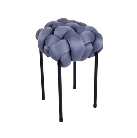 Rovopo Grey Knotted Stool