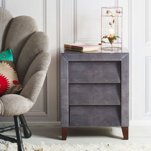 BETSY GREY BEDSIDE TABLE
