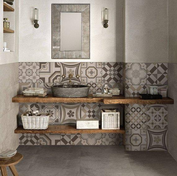 Riga tortora Pvc tiles for bathroom tiles and kitchen Ceramic decorations