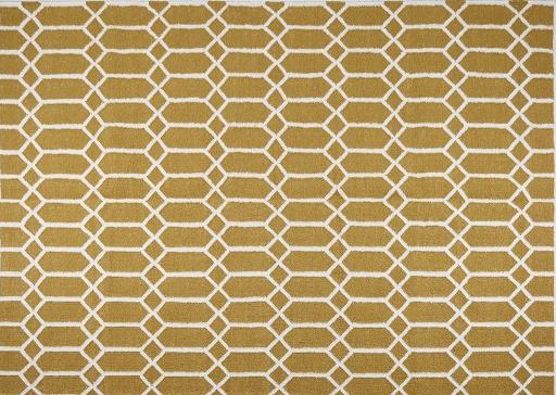 Rombix Hand-woven Rug, Golden
