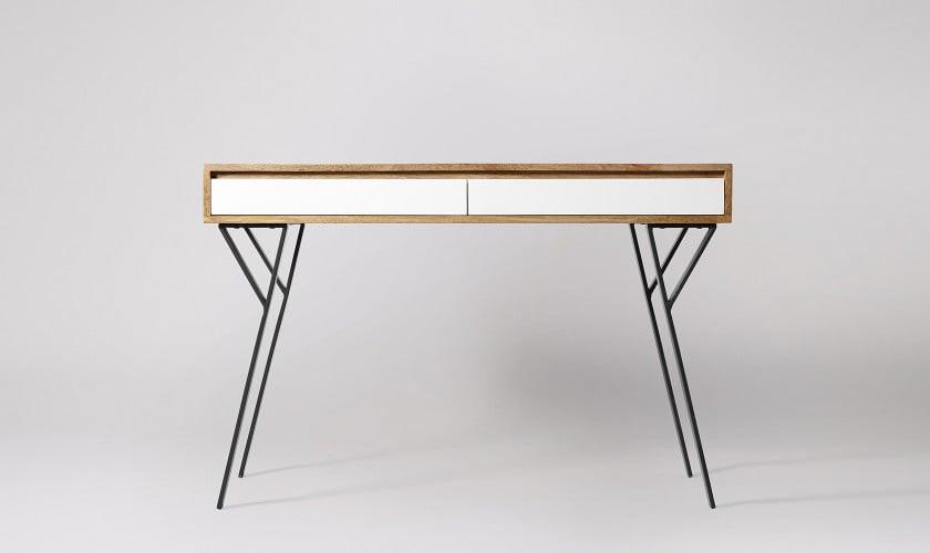 Mickey Desk, Mango Wood & White. Home office. Office desk