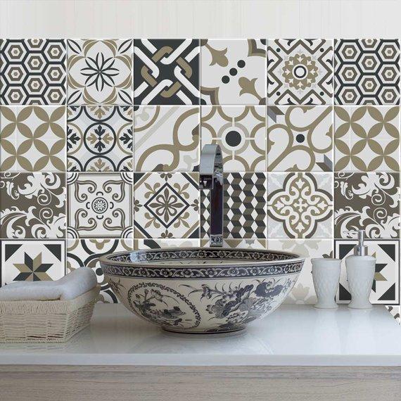 """Rabat"" Pvc tiles for bathroom tiles and kitchen Ceramic decorations"