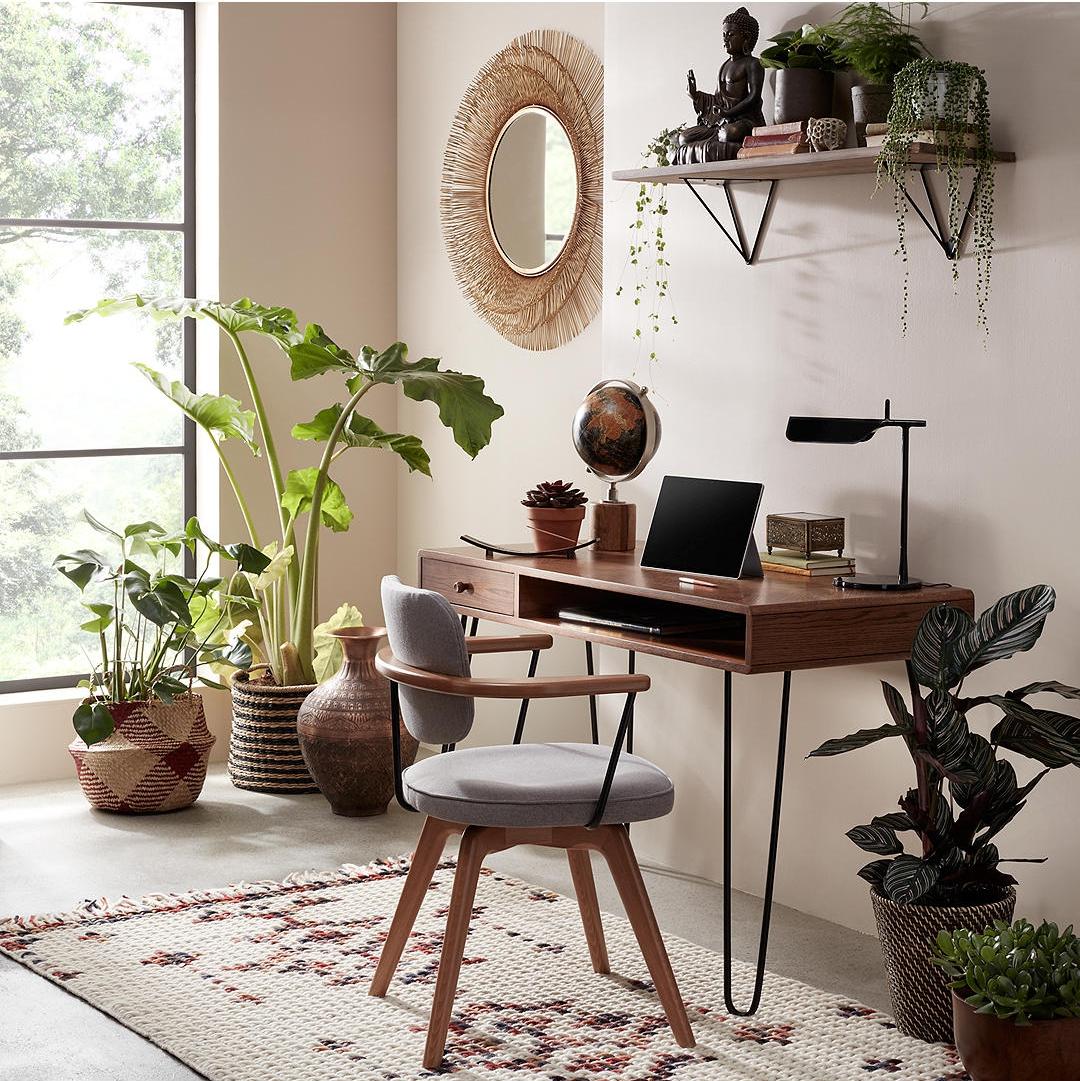 Hairpin Desk, Dark Oak
