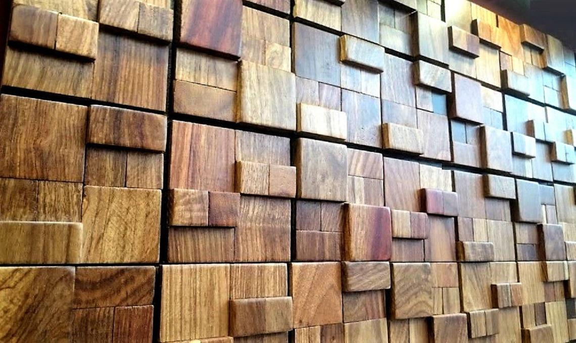 Wooden Wall Tiles, Decorative Wood Mosaic Tiles, Reclaimed Wall Tiles, Luxurious, Wall Decor, 3D Wall Tiles, Handmade Stunning Wall Panels