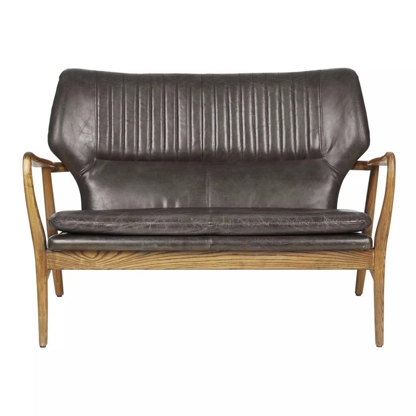 Laura Ashley Whitworth leather sofa. Retro sofa. Living room decor. Leather sofas. Scandinavian sofa