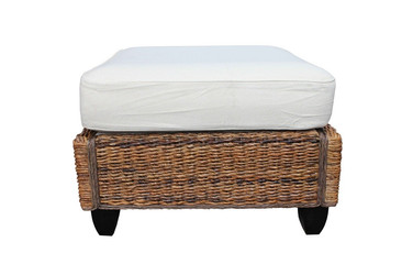 Kingston Abaca Rattan Ottoman