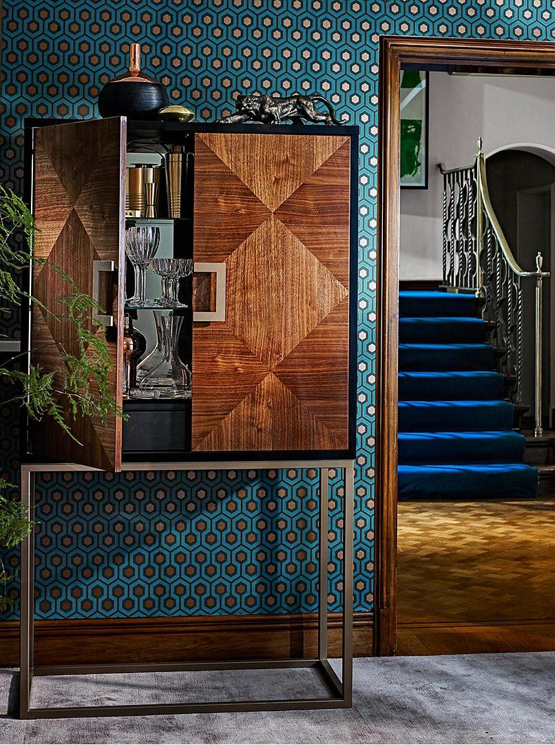 Puccini Cocktail Cabinet. Sideboard. Hallway decor. Foyer decoration ideas. Ideas for small hallways